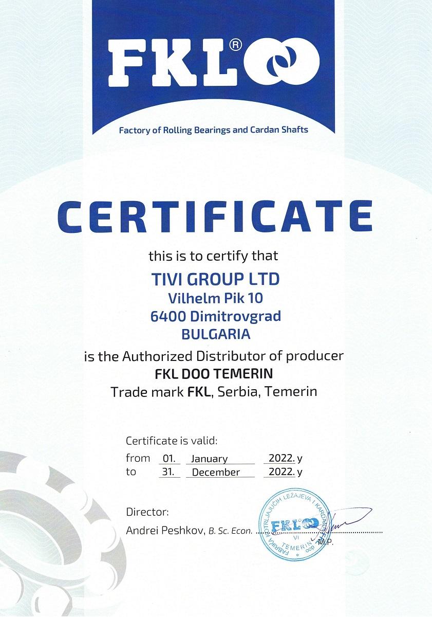 Certificate FKL