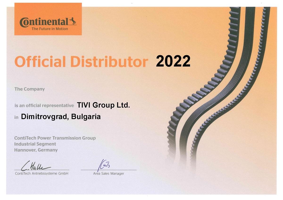 Certificate Continental